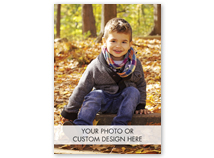 Vertical Full Custom Deluxe Holiday Photo Card